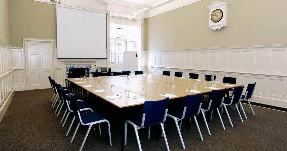 Meeting room set up in the Examination Schools