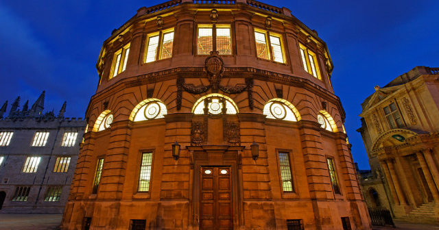 The Sheldonian Theatre at night