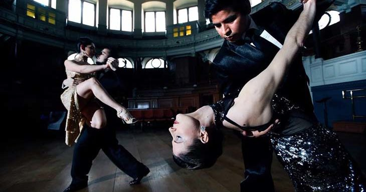 Dancers performing at Oxford Tango Dance Festival in Sheldonian Theatre