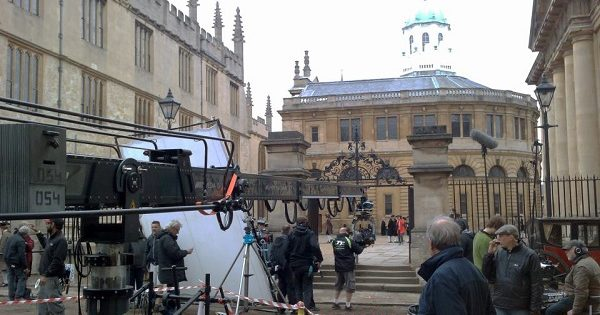 Filming outside the Sheldonian Theatre