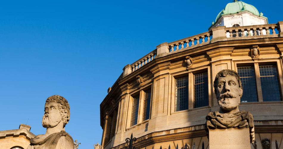 A picture of the Sheldonian Theatre from the outside