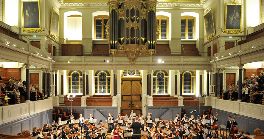 Orchestral concert in the Sheldonian Theatre, concert venue in Oxford