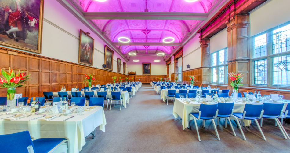 Examination Schools dinner venue Oxford with lights