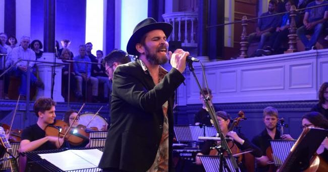 Gaz Coombes performing in Sheldonian Theatre, music venue