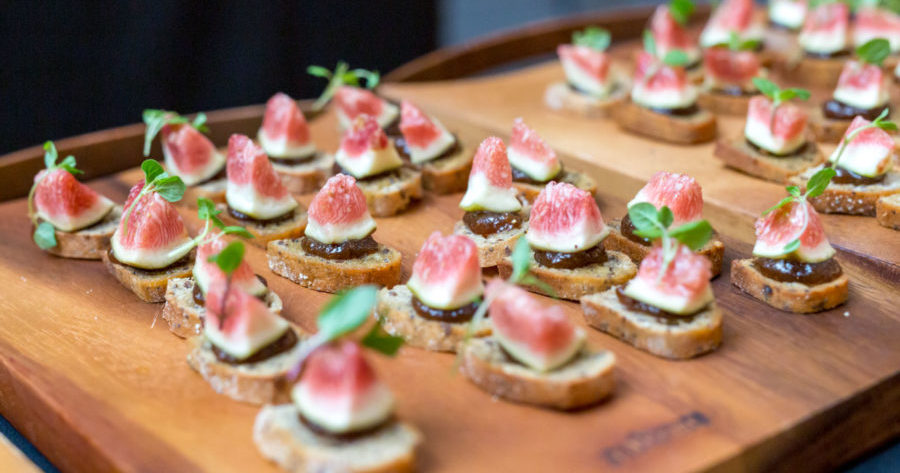 This is an image of canapes and is an example of the sort of things we do